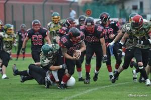 The Maribor Generals competing against the Kranj Alp Devils.