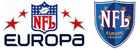 Logotipos oficiais da NFL Europa/Europe.