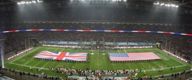 The San Francisco 49ers vs. the Jacksonville Jaguars at Wembley Stadium in 2013.