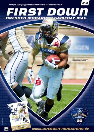Larry Croom on the Monarchs' gameday program.