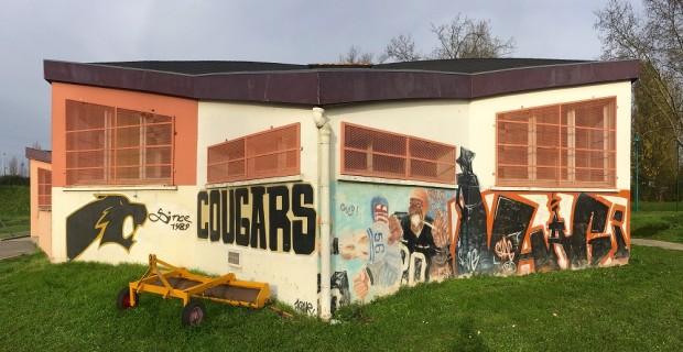 The Saint-Ouen-l'Aumône Cougars' modest facility in Saint-Ouen-l'Aumône, France.
