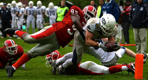 The London Blitz playing against the Amsterdam Crusaders.