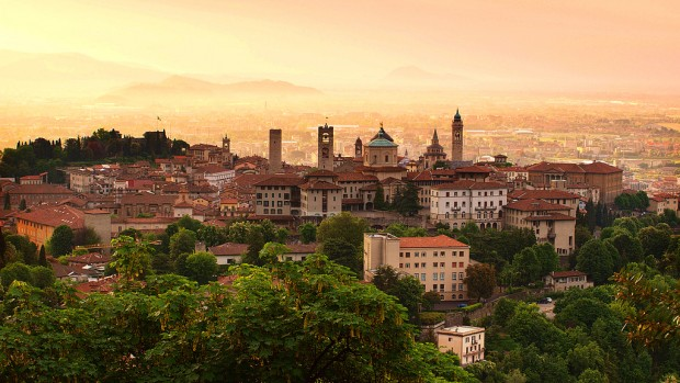 Sunrise in Bergamo, Italy - the location of The Growth of a Game Bergamo Skills Camp.