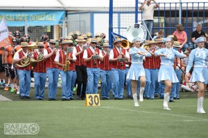 A traditional Slovene band takes the field before the Domžale Tigers (Photo courtesy of Darja Povirk)