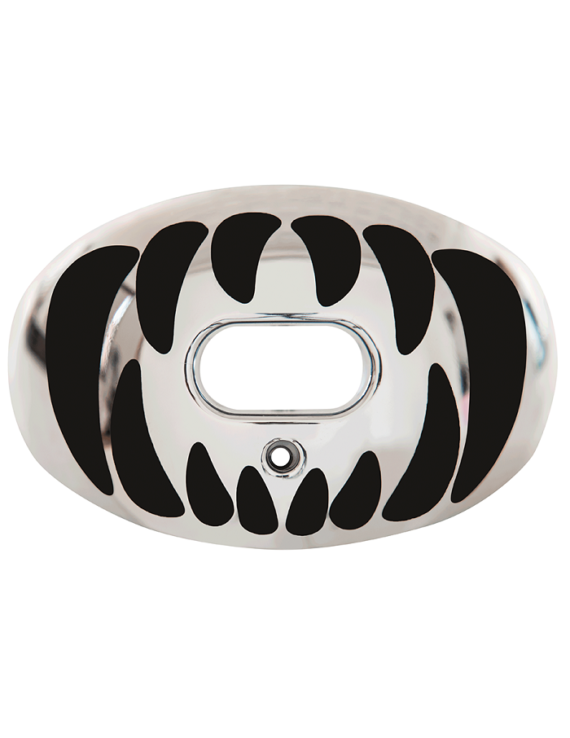 Battle Oxygen Predator Chrome Mouth Guard Silver-Black 1