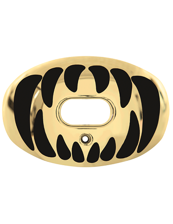 Battle Predator Chrome Mouth Guard Gold-Black 1
