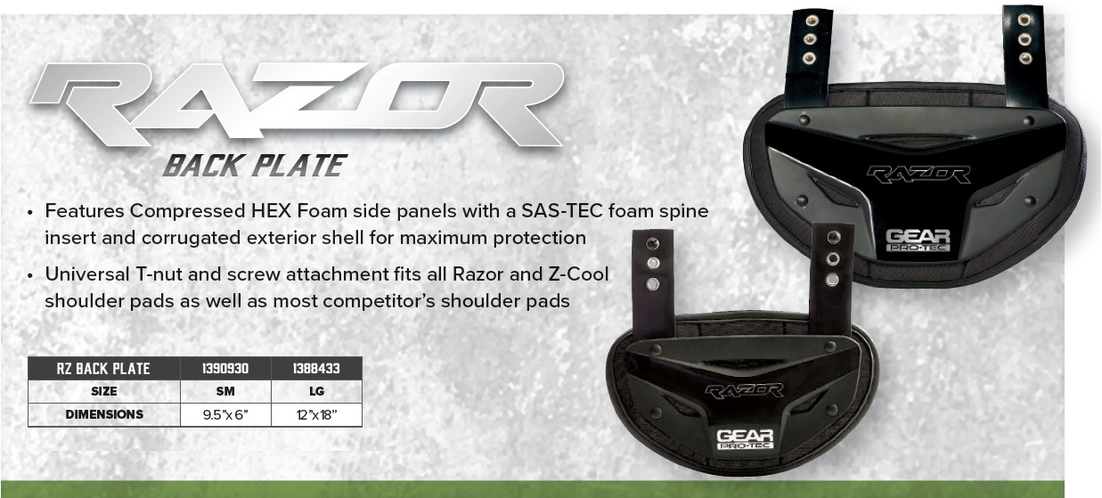 Razor Back Plate Description 1