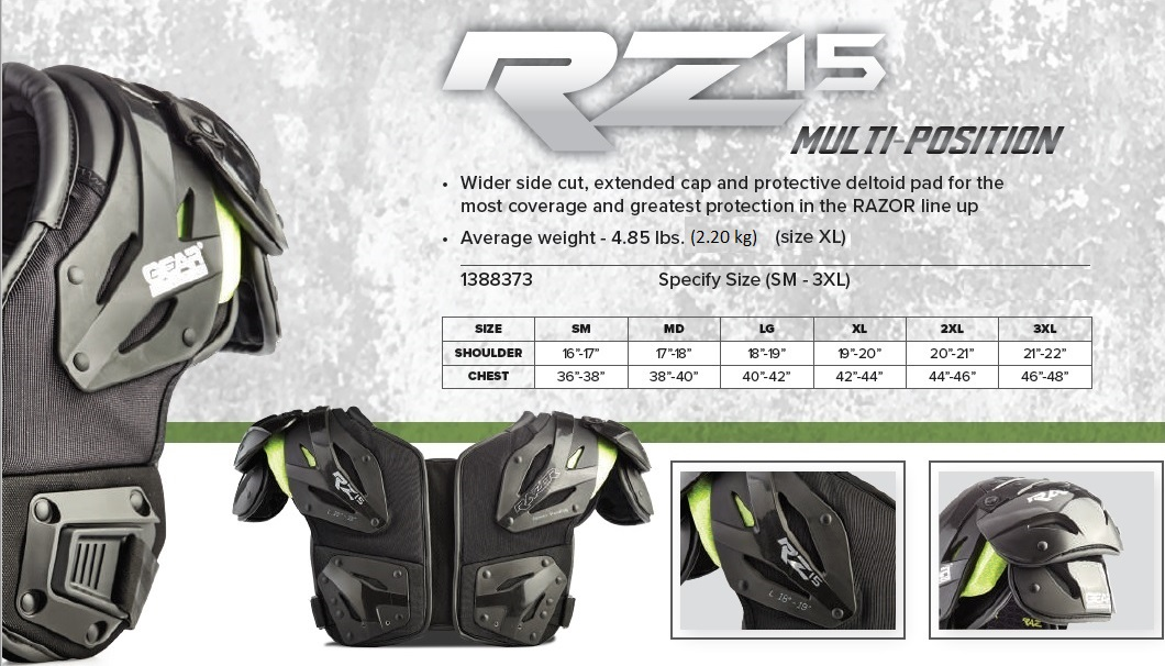 Razor RZ15 Shoulder Pad Description 2