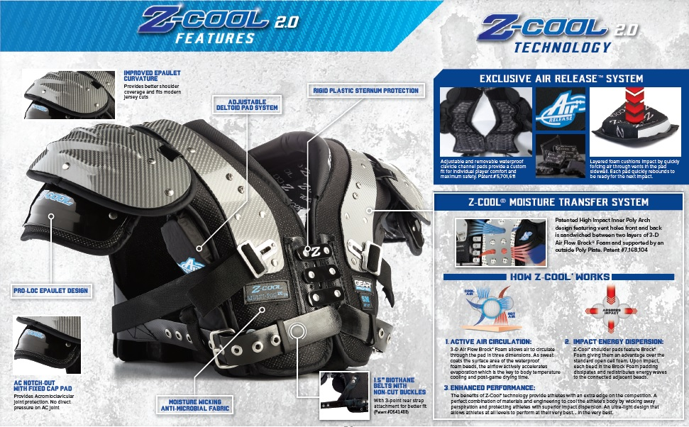 Gear Pro-Tec Z-Cool Shoulder Pad Product Features 1