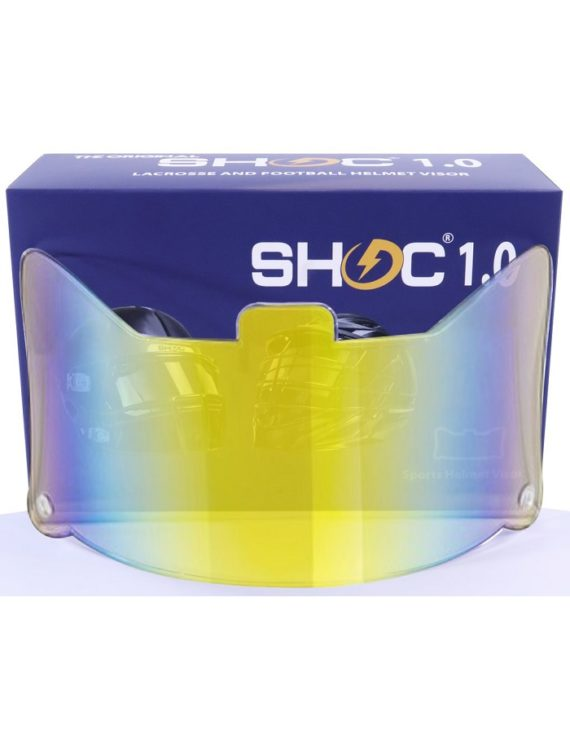 Shoc 1.0 Clear Sunset Iridium Helmet Visor 1