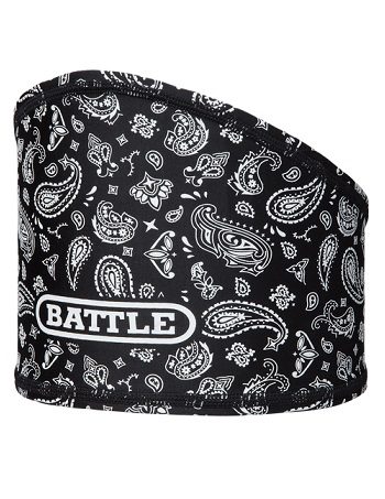 Battle Bandana Skull Wrap Black-White 1