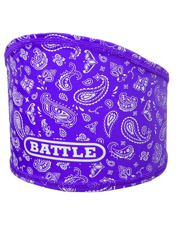 Battle Bandana Skull Wrap Purple-White 1
