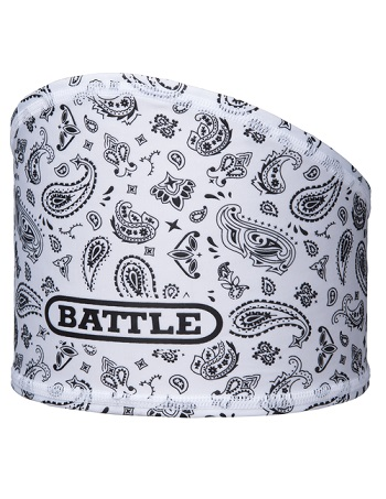 Battle Bandana Skull Wrap White-Black 1