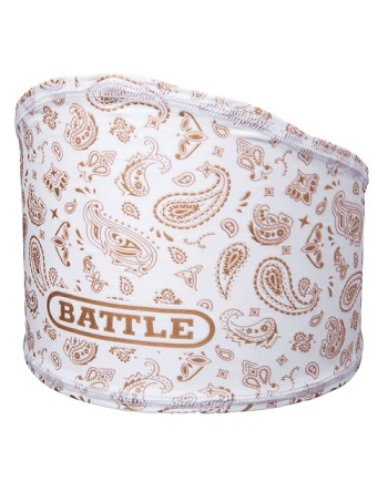 Battle Bandana Skull Wrap White-Gold 1