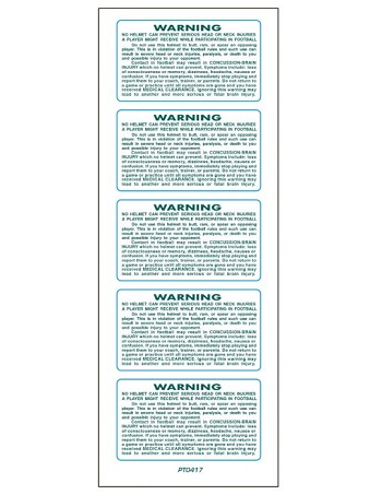 SportStar Helmet Warning Decals Dark Green 1