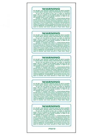 SportStar Helmet Warning Decals Light Green 1