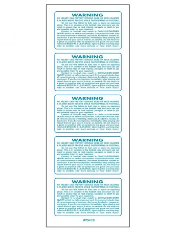 SportStar Helmet Warning Decals Light Teal 1